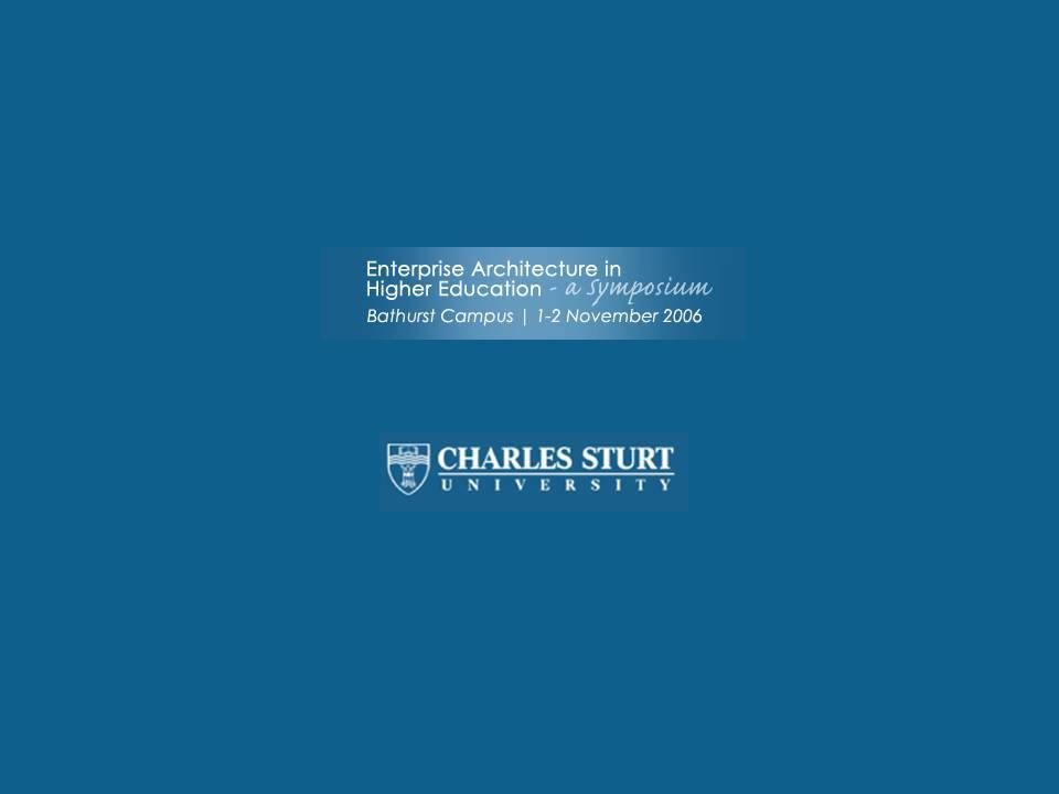 CRICOS No.000213J a university for the world real R CIO Comments Further...