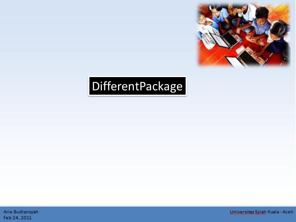 DifferentPackage