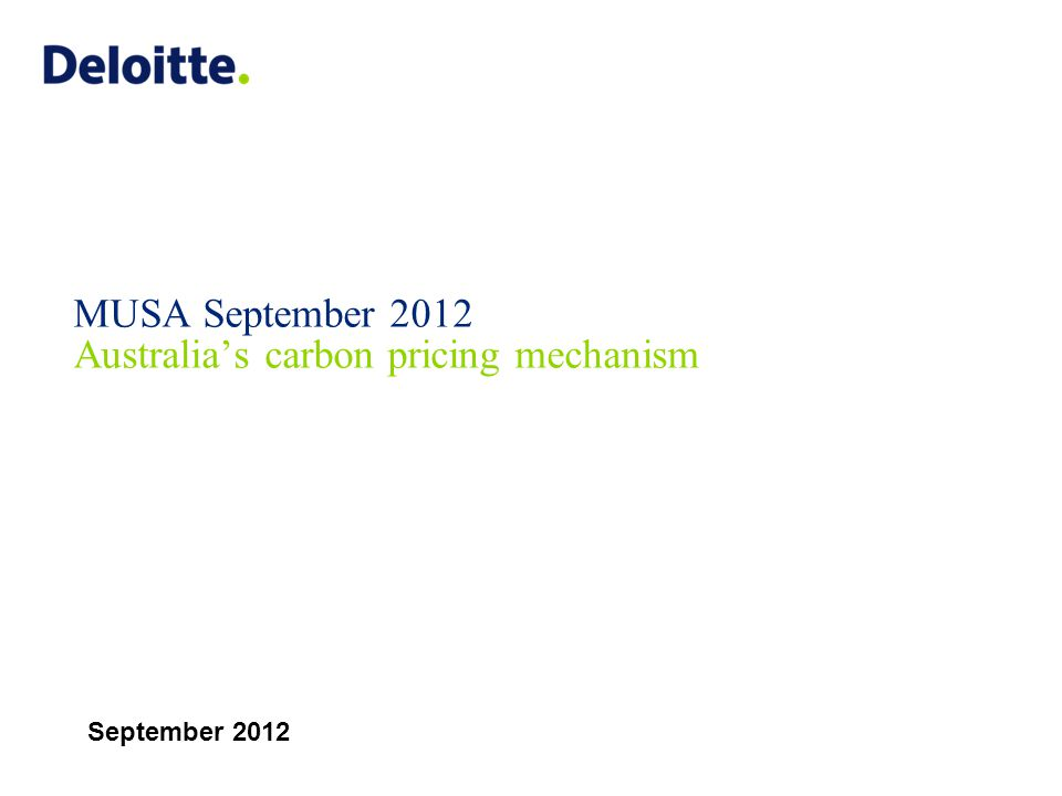 Carbon pricing and reporting 1 July 2008 Due 31 Oct annually 1 July 2015 National Greenhouse & Energy Reporting Act (NGER) 'Cap and Trade' emission trading scheme Annual NGER reporting The journey so far 1 July 2012 Start date: Fixed Carbon Price $23 per tonne 8 November 2011 Legislation passed Senate