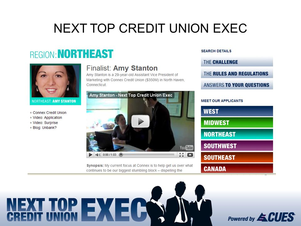 NEXT TOP CREDIT UNION EXEC