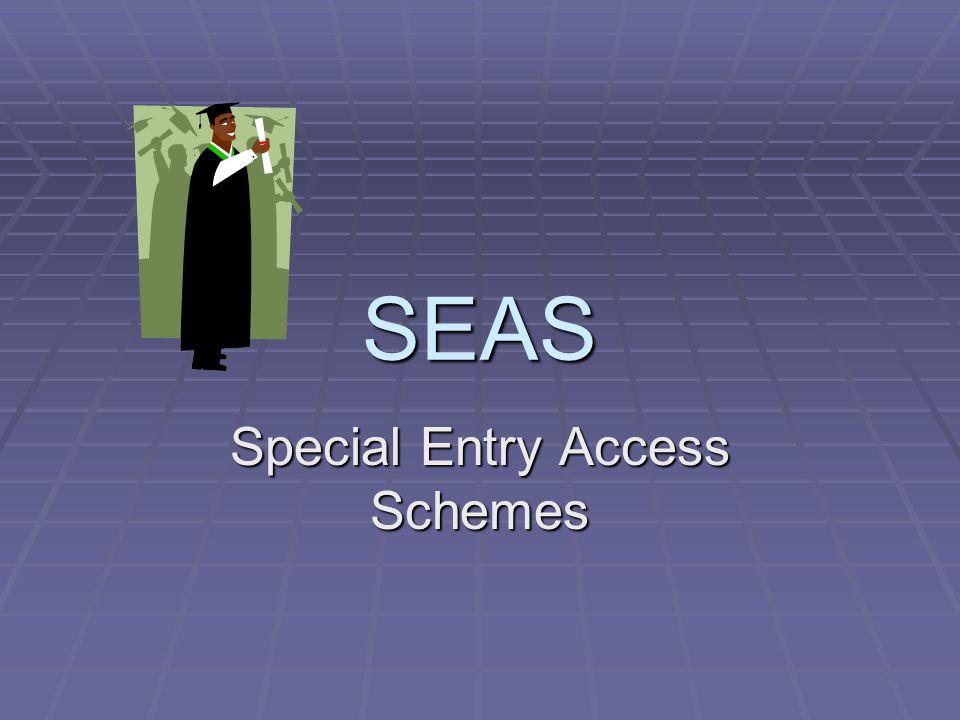 SEAS Special Entry Access Schemes