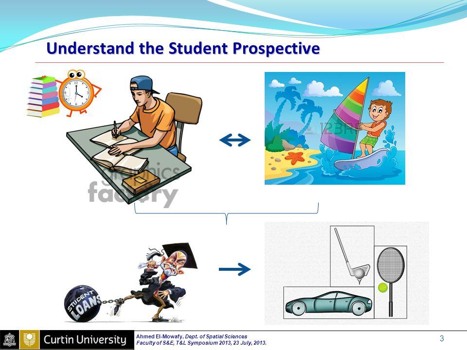 Understand the Student Prospective 3 Ahmed El-Mowafy, Dept.