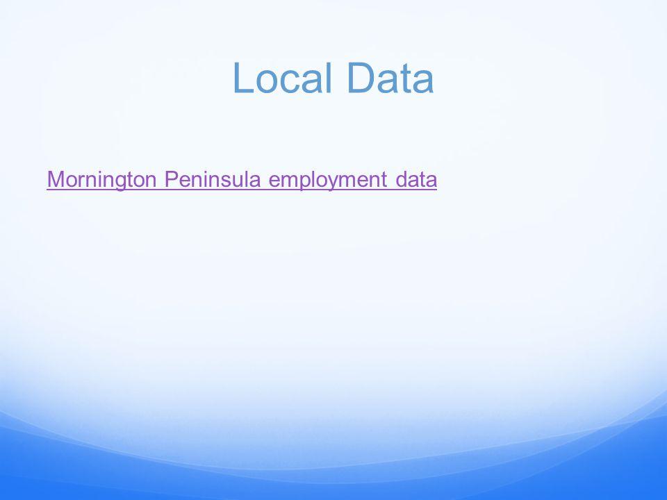 Local Data Mornington Peninsula employment data