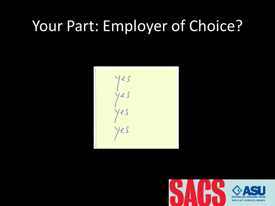 Your Part: Employer of Choice?