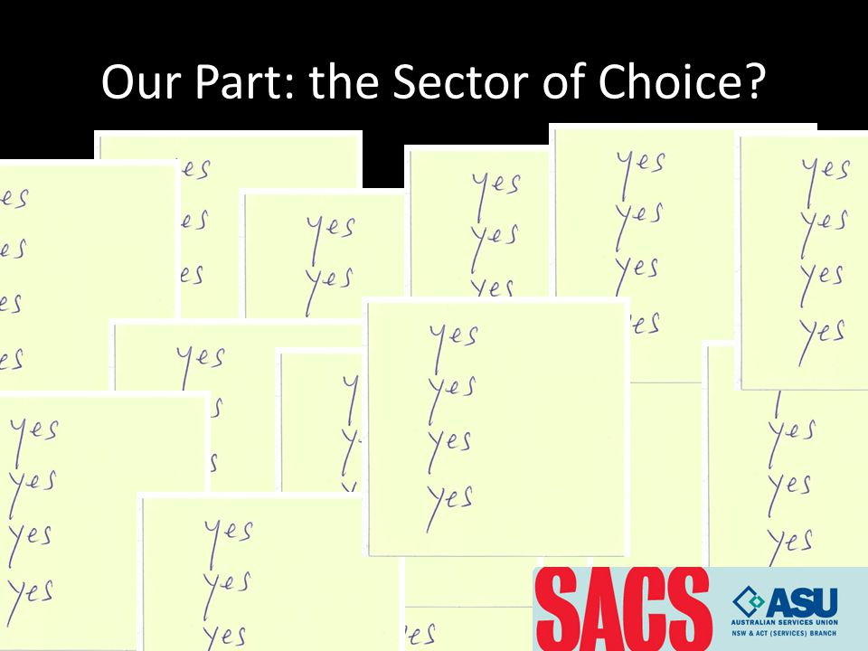 Our Part: the Sector of Choice