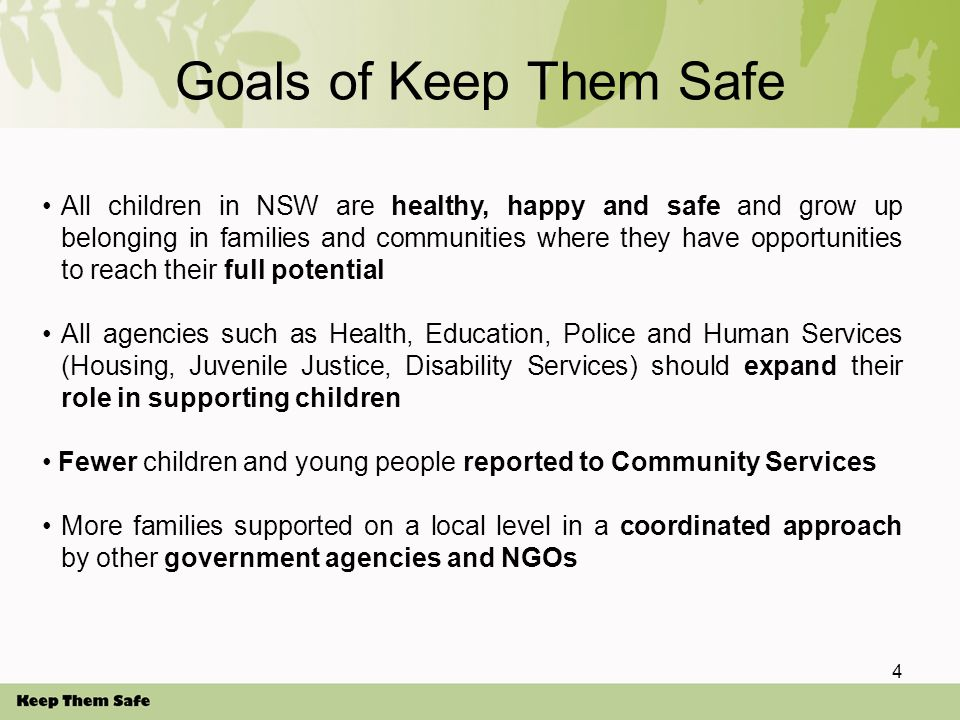 KTS and the Early Childhood Sector Early Childhood staff have a vital role in the child protection system Under KTS, All Early Childhood staff must report cases of suspected Risk of Significant Harm to children to the Community Services Child Protection Helpline.
