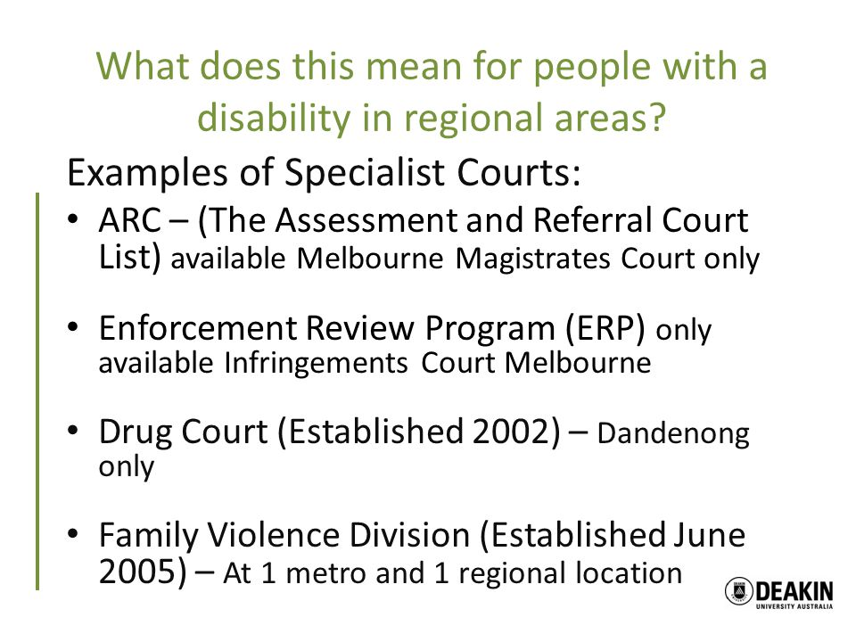 What does this mean for people with a disability in regional areas.
