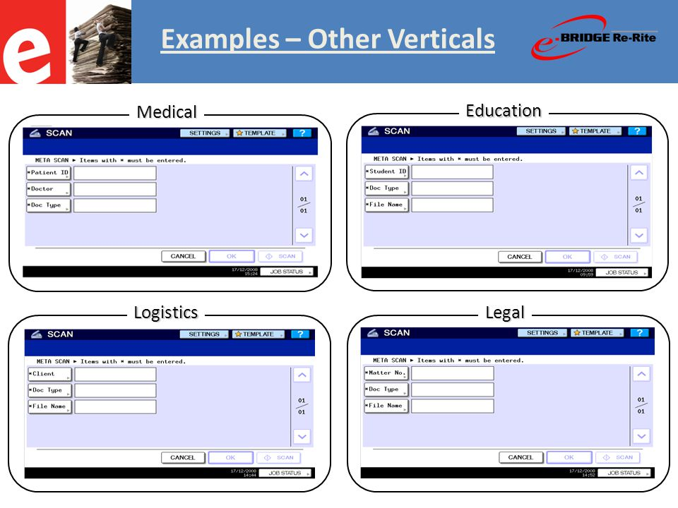 Education LogisticsLegal Medical Examples – Other Verticals