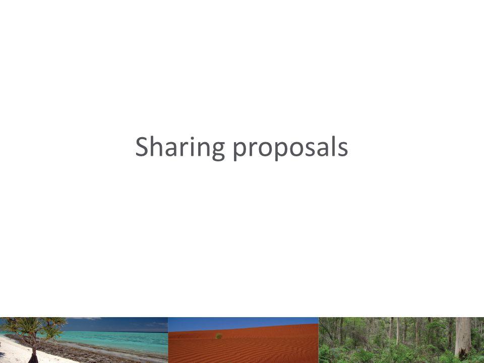 Sharing proposals