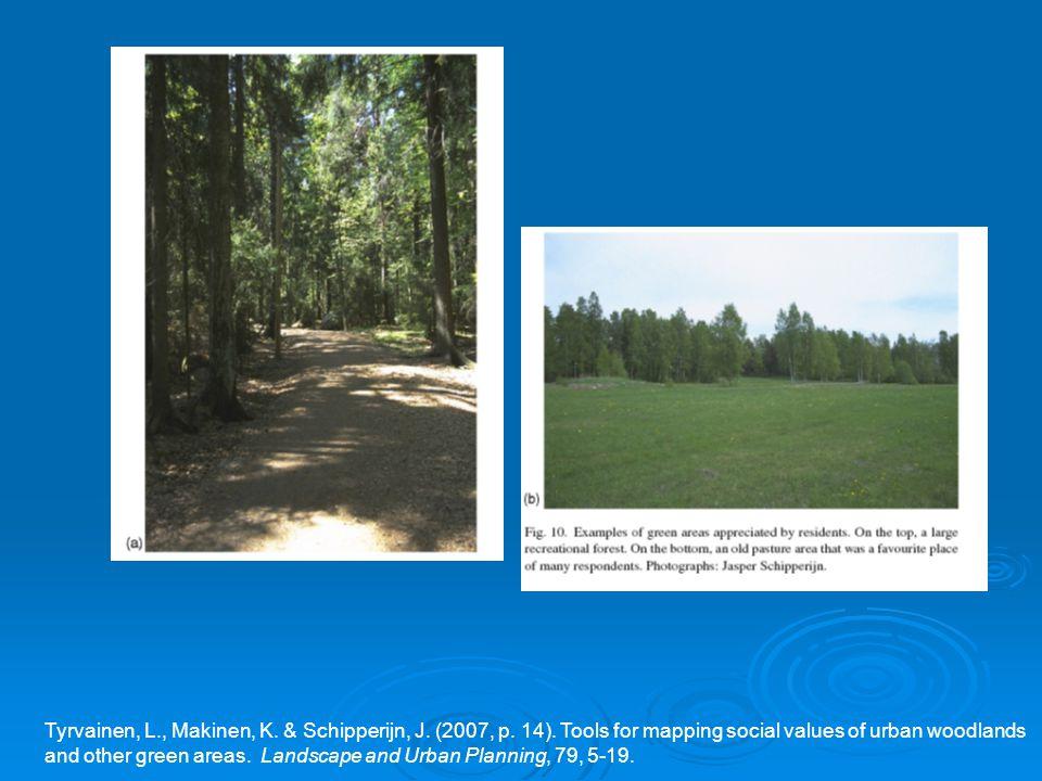 Tyrvainen, L., Makinen, K. & Schipperijn, J. (2007, p.