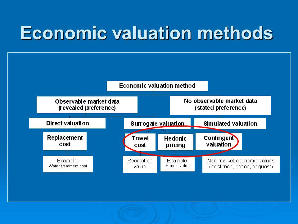 Economic valuation methods