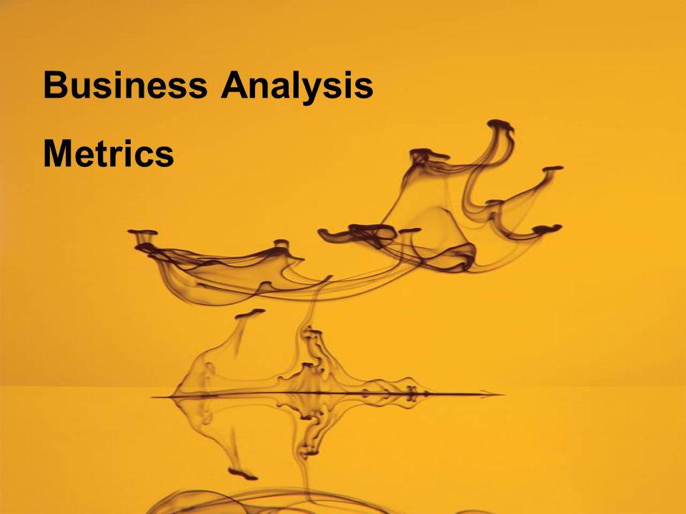 Business Analysis Metrics
