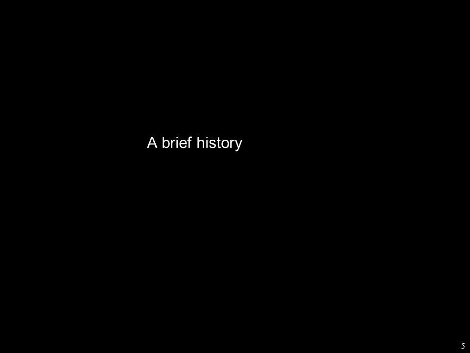 5 A brief history