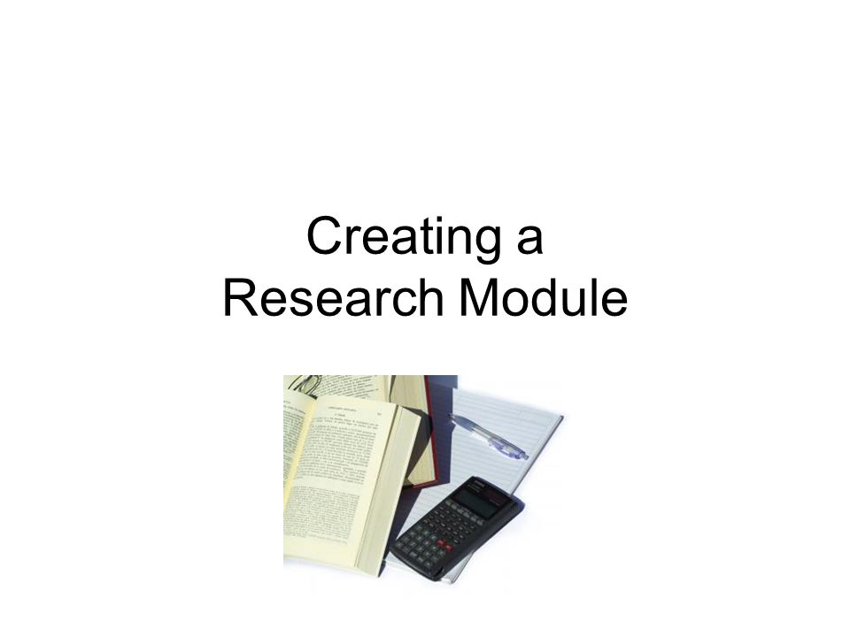 Creating a Research Module