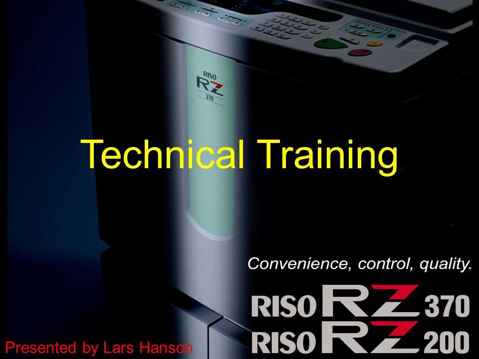 1 Technical Training Presented by Lars Hanson