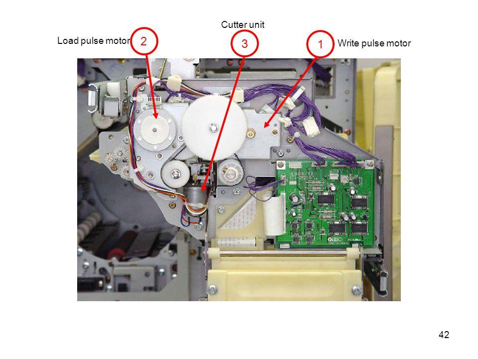 42 2 3 1 Write pulse motor Cutter unit Load pulse motor