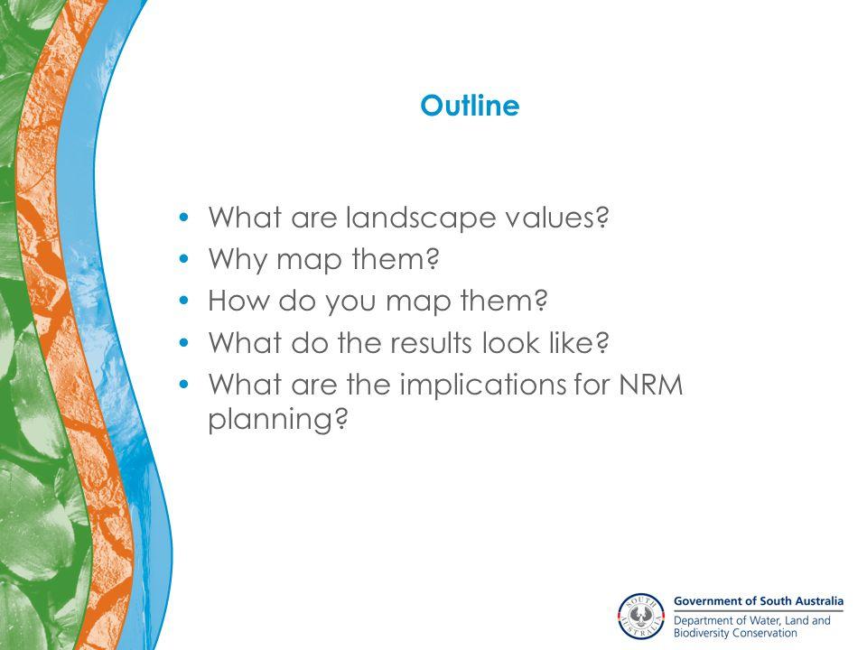 What are landscape values.