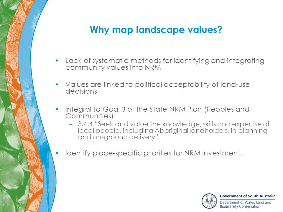 Why map landscape values.