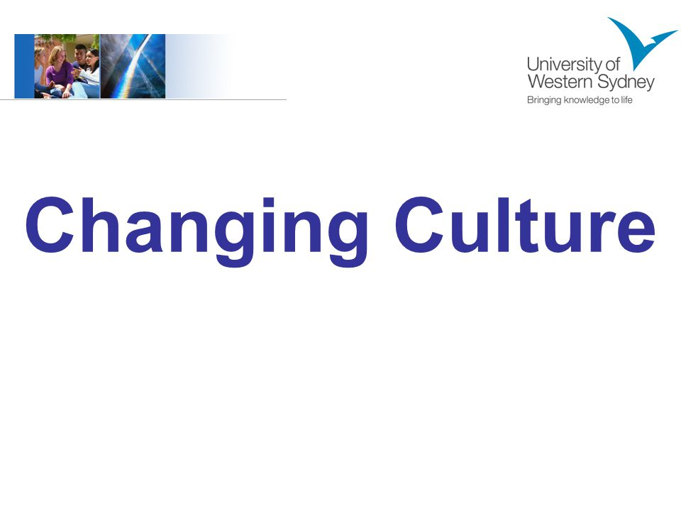 Changing Culture