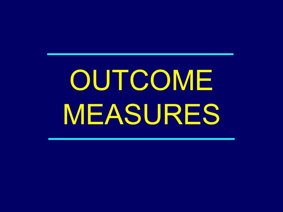 OUTCOME MEASURES 03-116