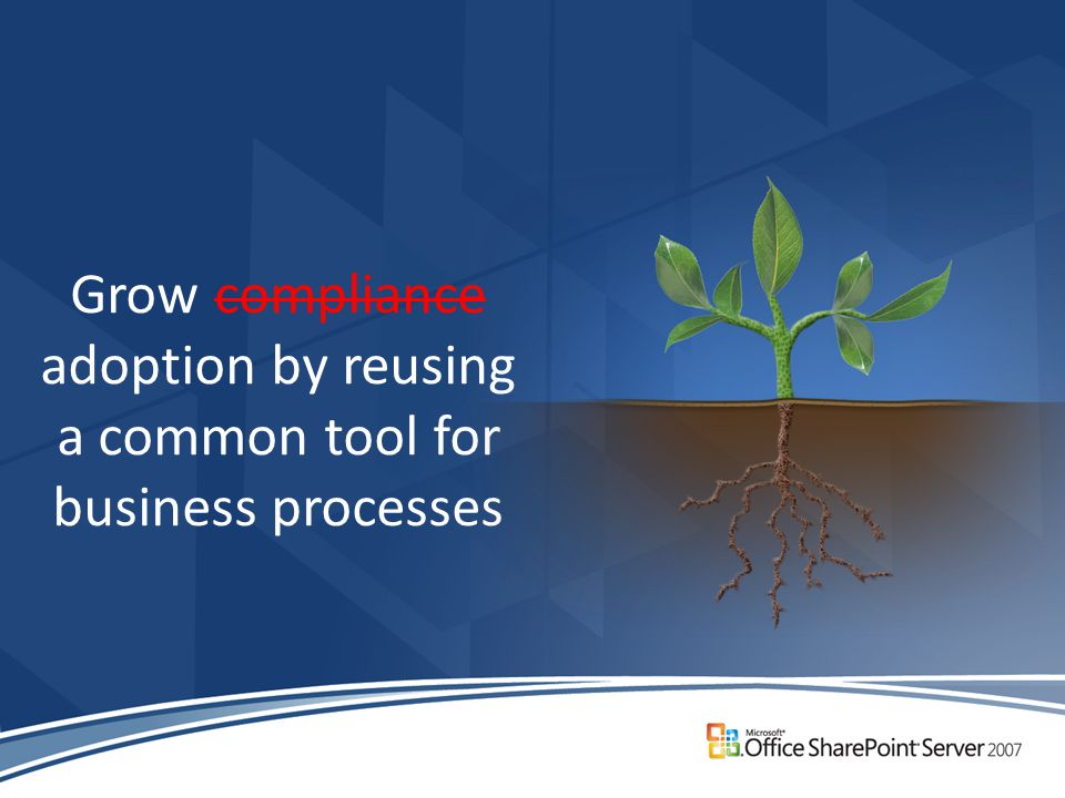 Grow compliance adoption by reusing a common tool for business processes