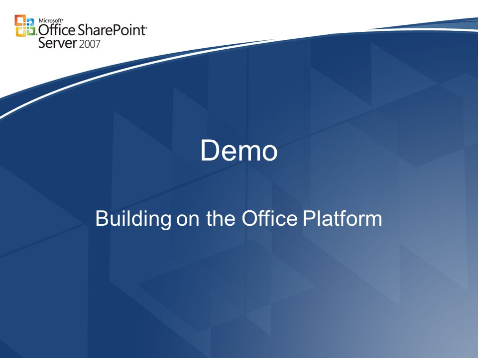 Demo Building on the Office Platform