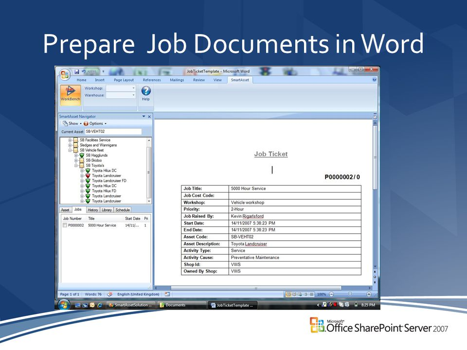 Prepare Job Documents in Word