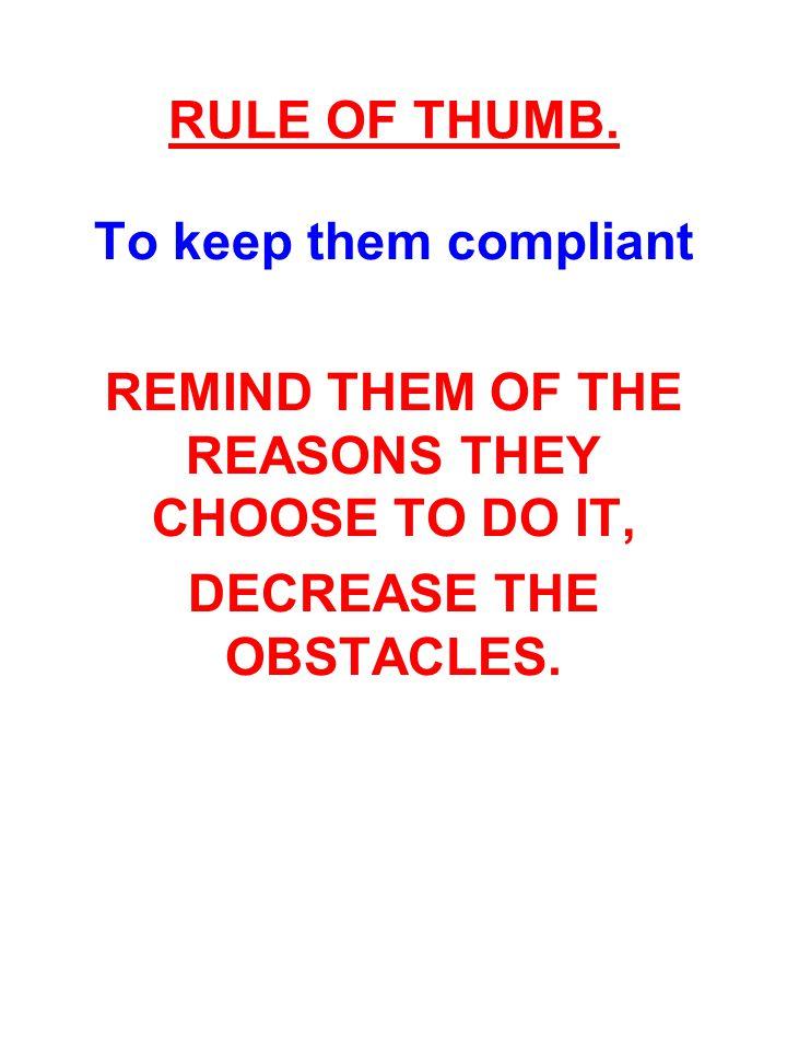 RULE OF THUMB.