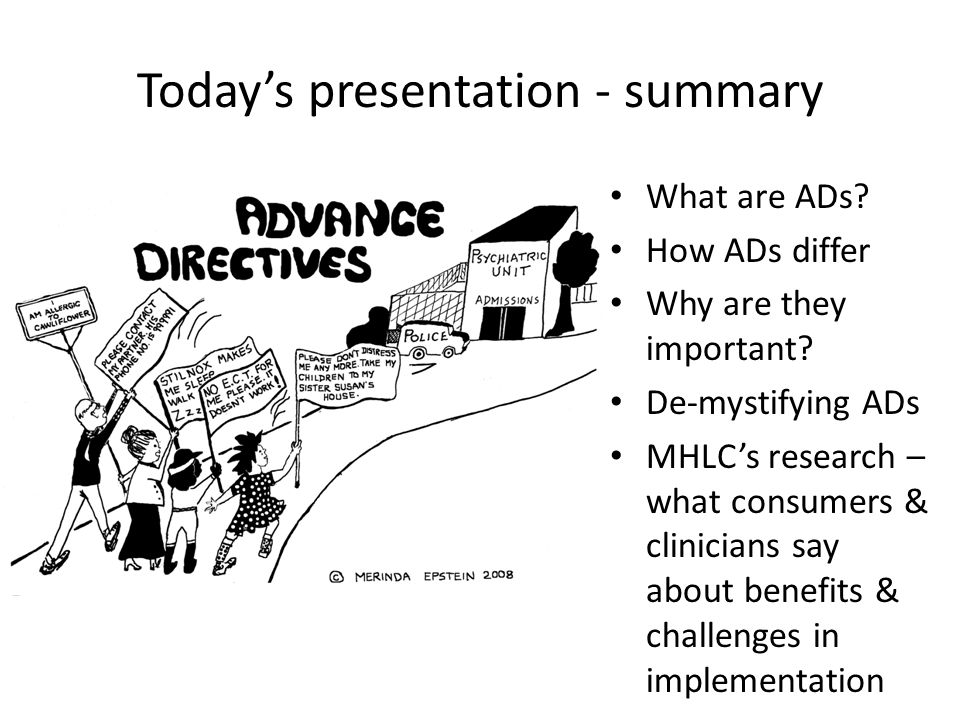 Today's presentation - summary What are ADs. How ADs differ Why are they important.