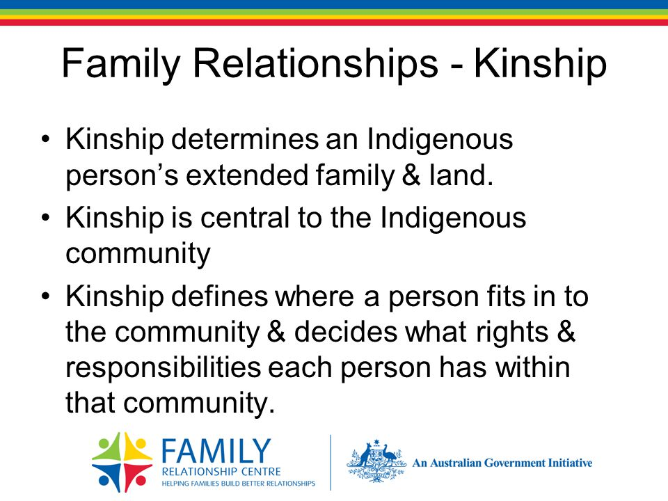 Family Relationships Indigenous families tend to live in larger households.