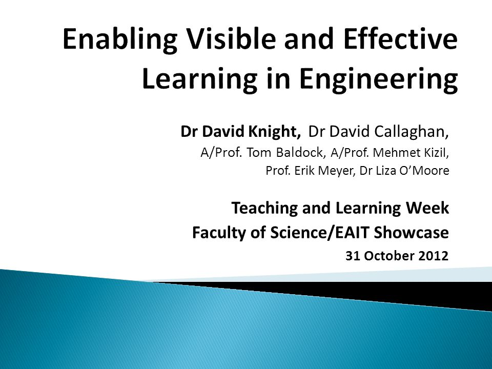 Dr David Knight, Dr David Callaghan, A/Prof. Tom Baldock, A/Prof.