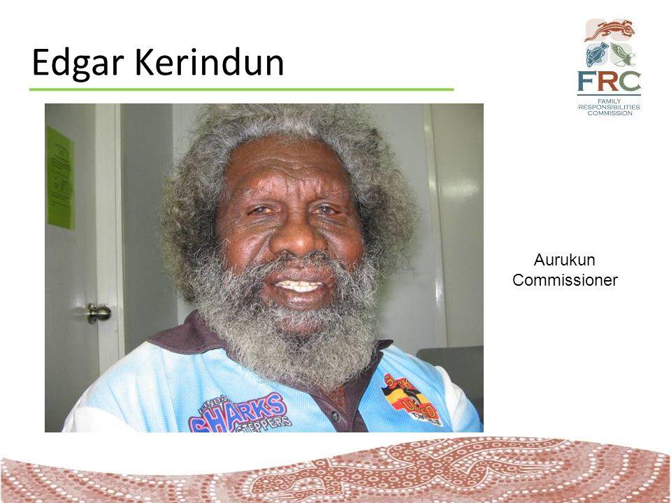 Edgar Kerindun Aurukun Commissioner