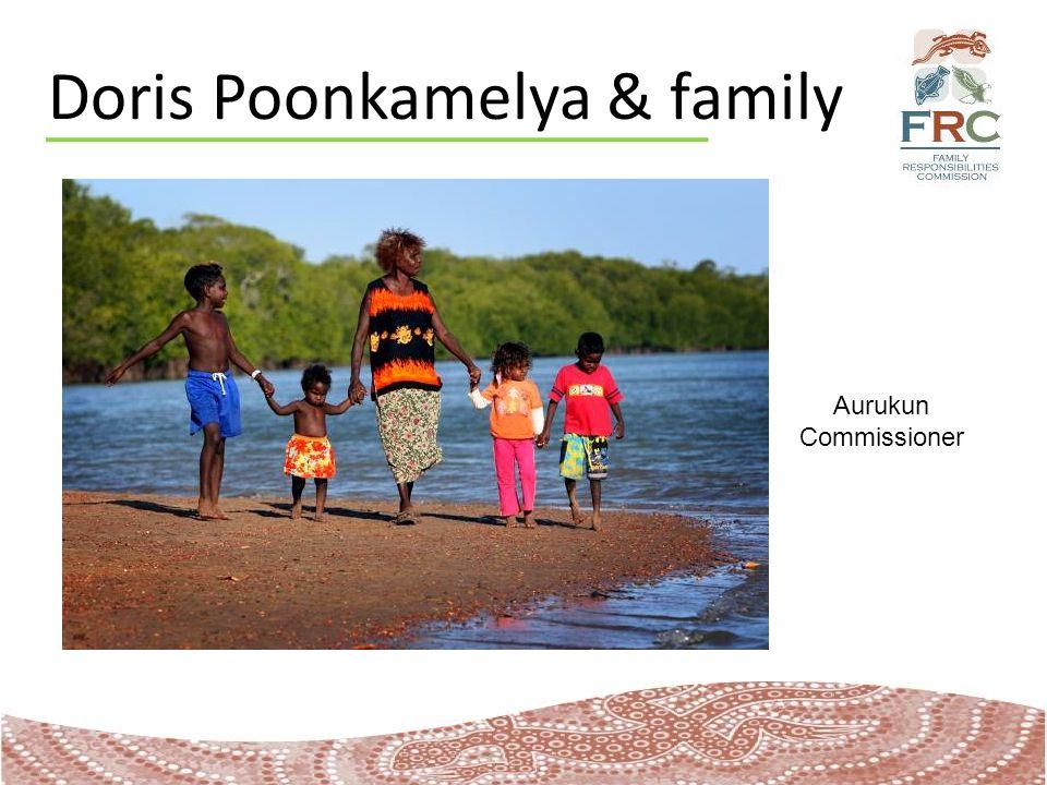 Doris Poonkamelya & family Aurukun Commissioner