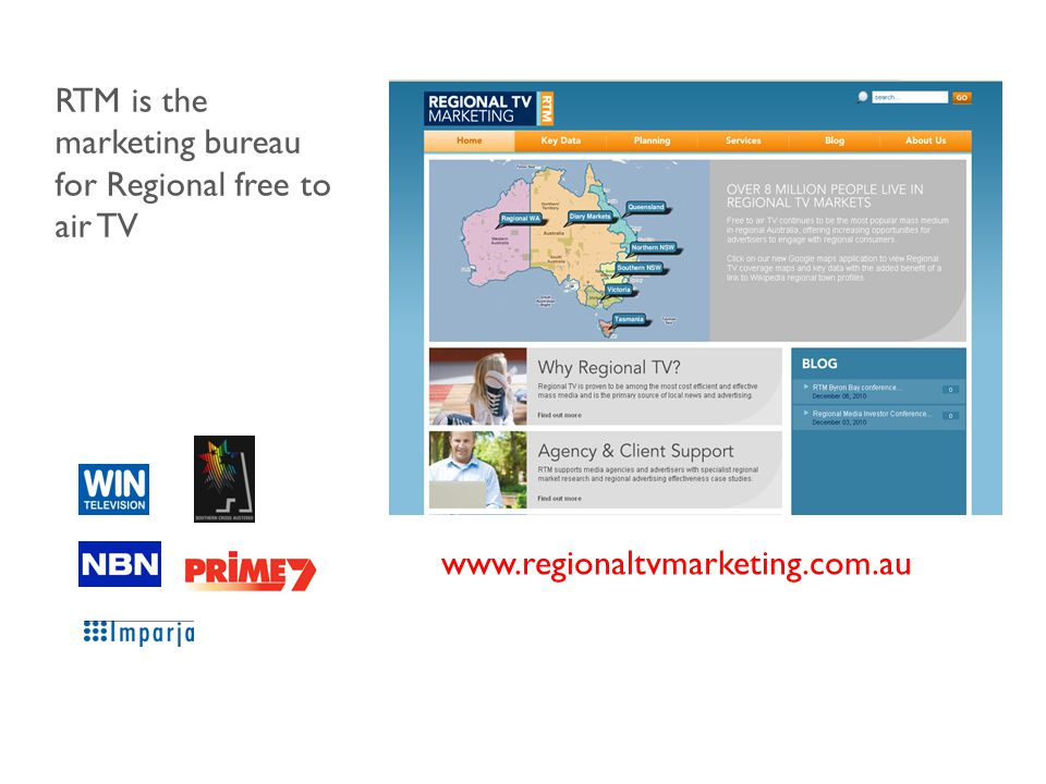 RTM is the marketing bureau for Regional free to air TV