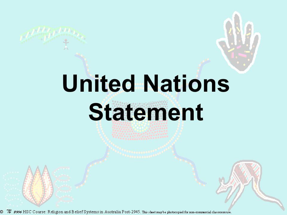 United Nations Statement