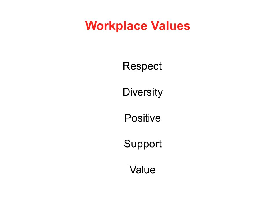 Respect Diversity Positive Support Value Workplace Values