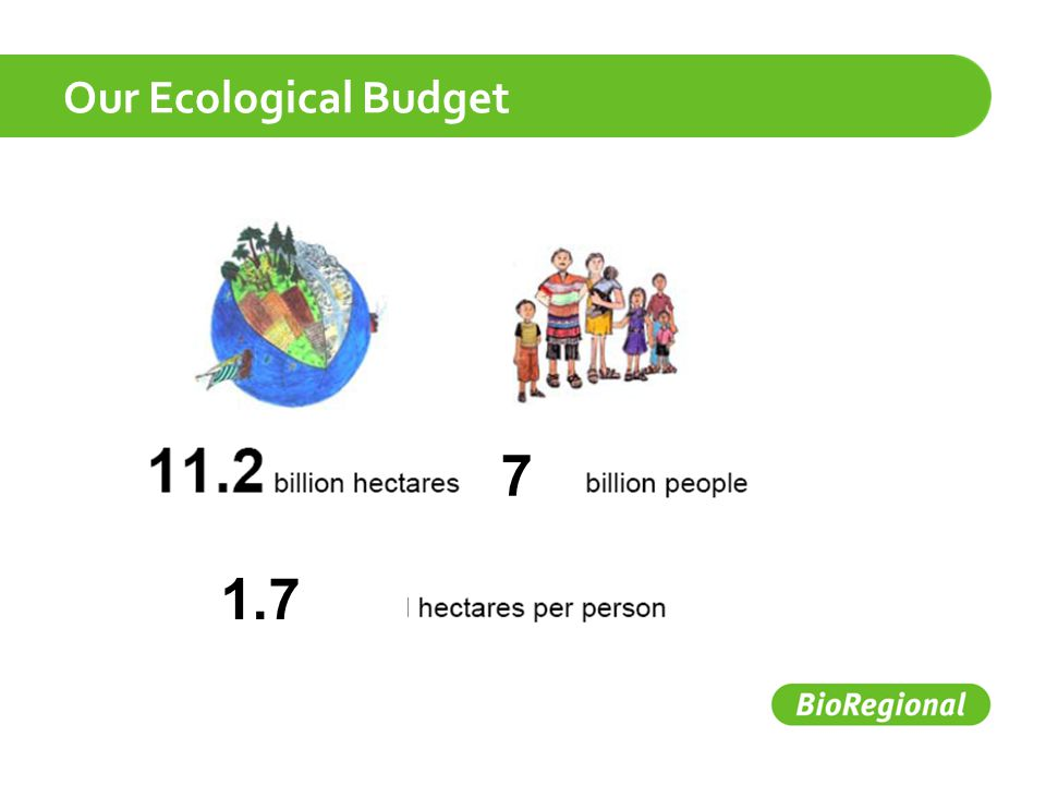 Our Ecological Budget 7 1.7
