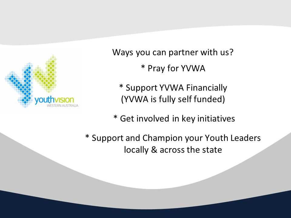 Ways you can partner with us.