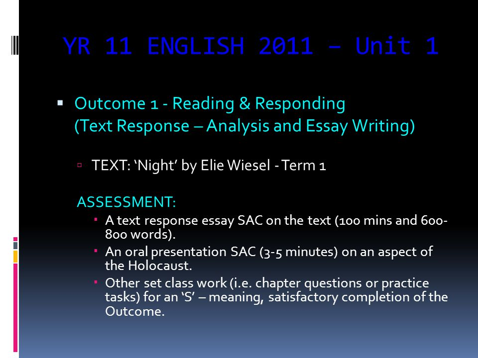 a course outline of units and english semester one unit  3 yr
