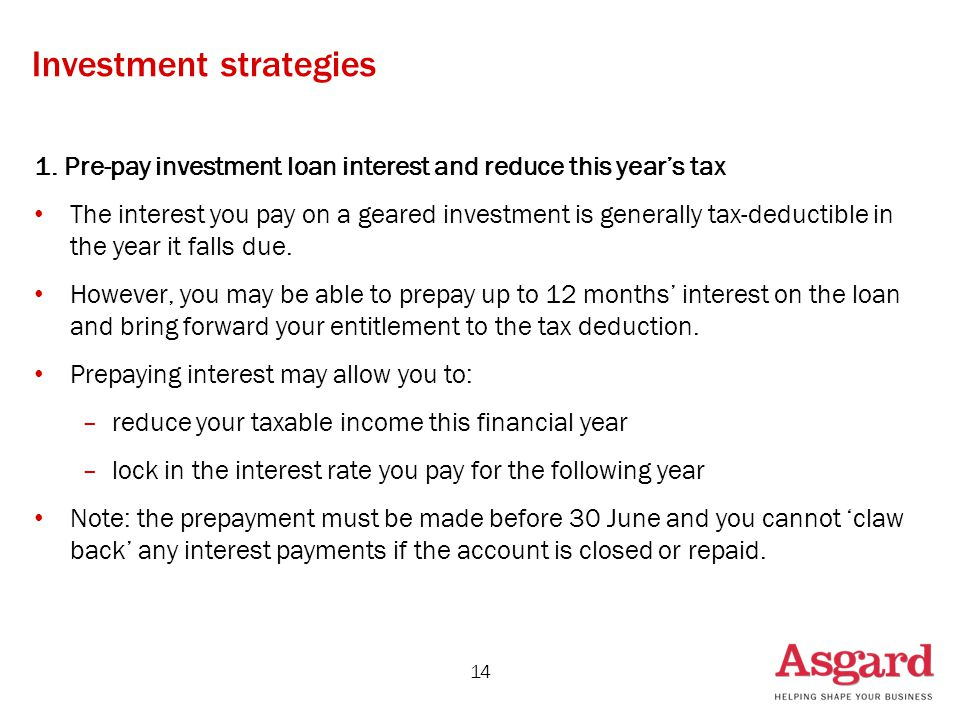 Investment strategies 1.