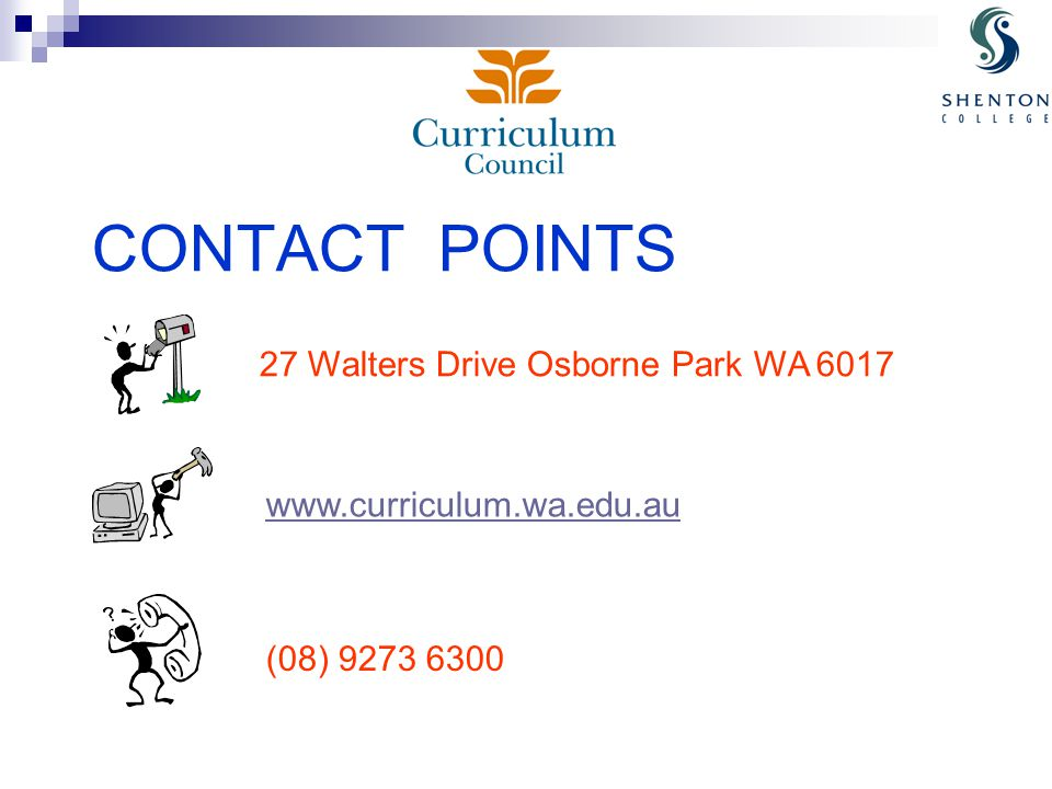 CONTACT POINTS 27 Walters Drive Osborne Park WA (08)