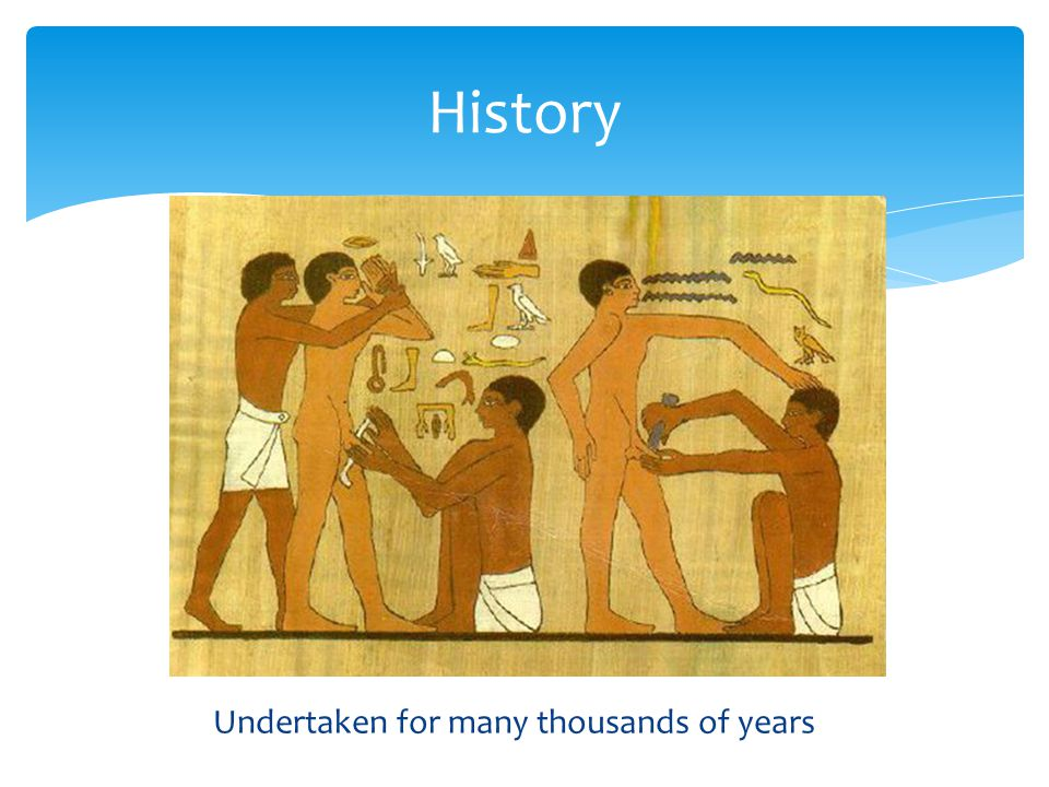 Undertaken for many thousands of years History