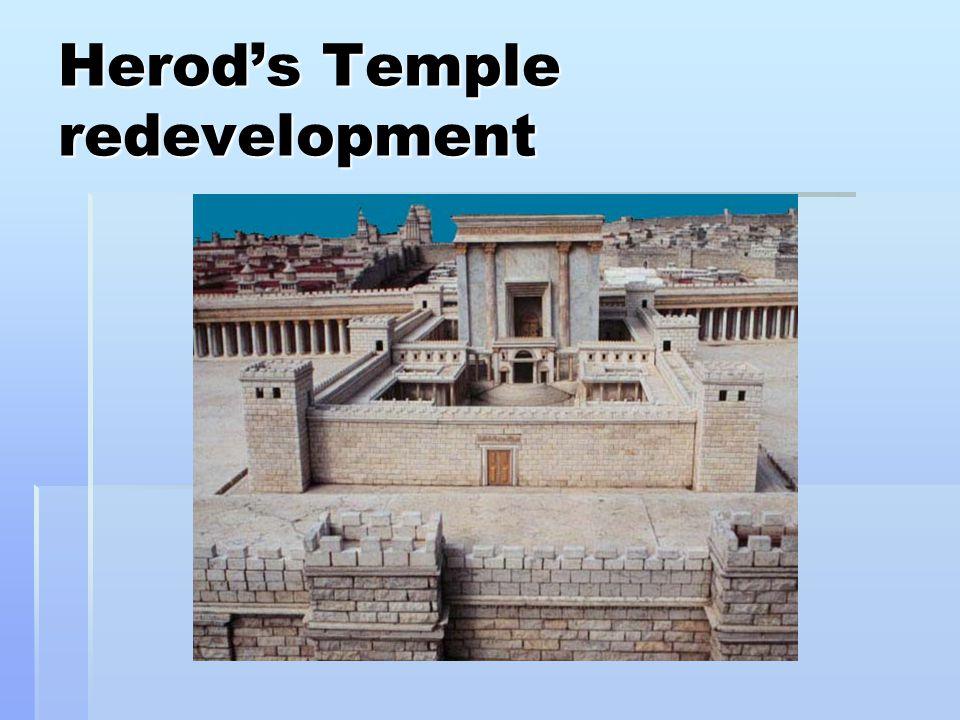 Herod's Temple redevelopment
