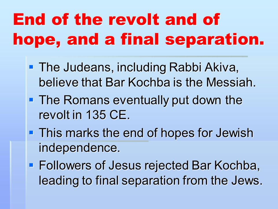 End of the revolt and of hope, and a final separation.
