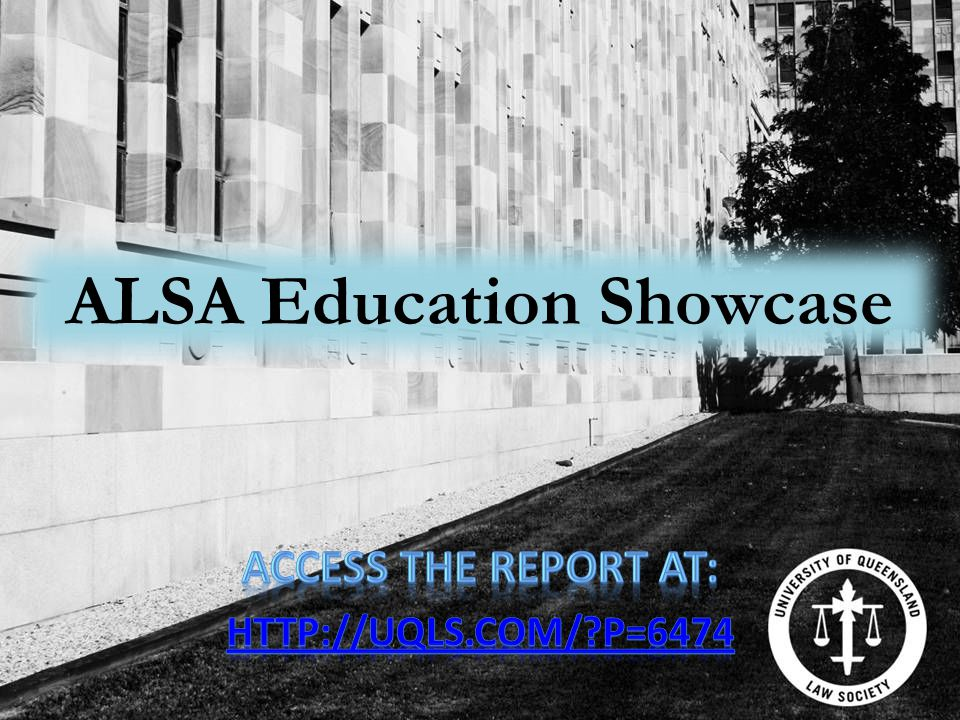 ALSA Education Showcase