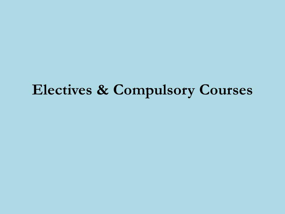 Electives & Compulsory Courses