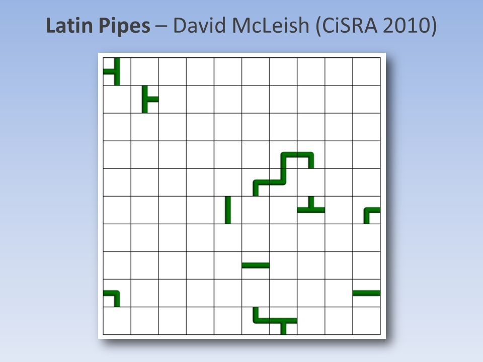Latin Pipes – David McLeish (CiSRA 2010)