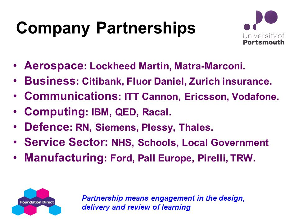 Partnership Programme: Learning Contracts