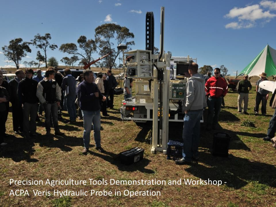 Precision Agriculture Tools Demonstration and Workshop - ACPA Veris Hydraulic Probe in Operation