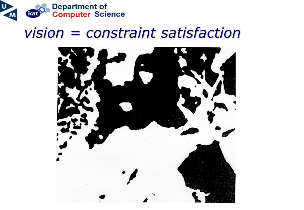 vision = constraint satisfaction